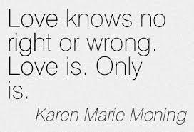 love right and wrong
